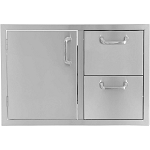 BBQ Island 30 Inch Single Door 2 Drawer Combo - 260 Series