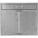 BBQ Island 260 Series - 30 Inch Double Door w/4 Inch Drawer Combo