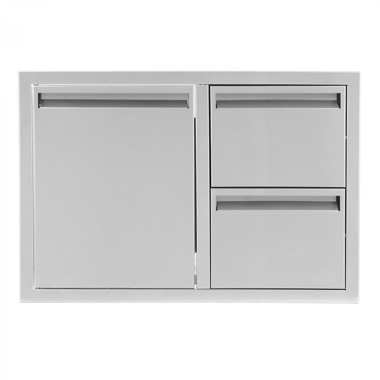 BBQ Island 350 - 30 Inch Single Door with 2 Drawers Combo