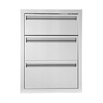 BBQ Island 350 Series - 17x24 Triple  Access Drawer