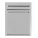 BBQ Island 350 - 21 Inch Single Door With 4 Inch Drawer Combo