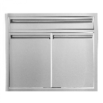 BBQ Island 350 - 30 Inch Double Door with 4 Inch Drawer Combo