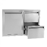 BBQ Island 350 - 36 Inch Single Door with 2 Drawers Combo