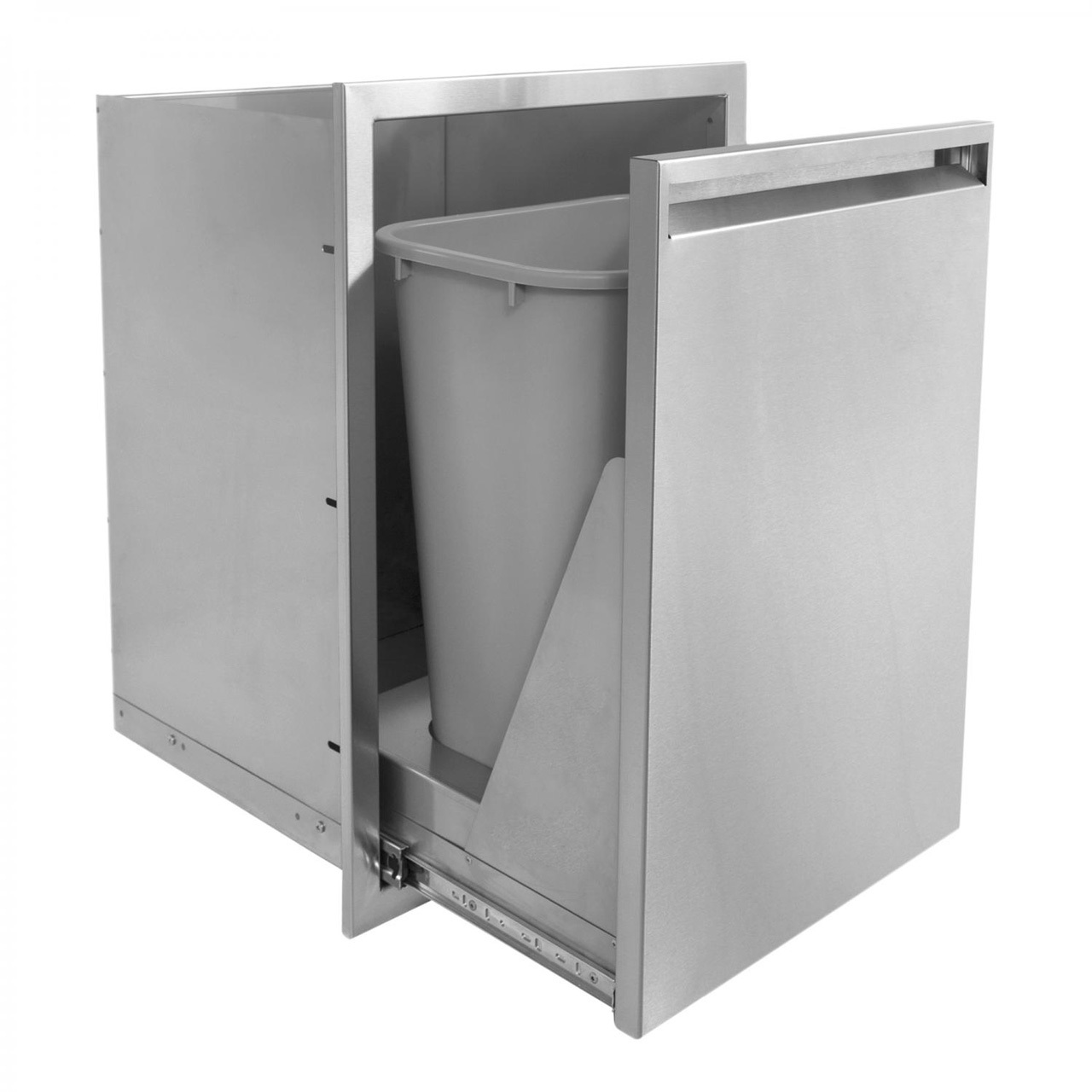 BBQ Island 350 Series - 17x24 Roll-Out Double Trash/Recycling Bin
