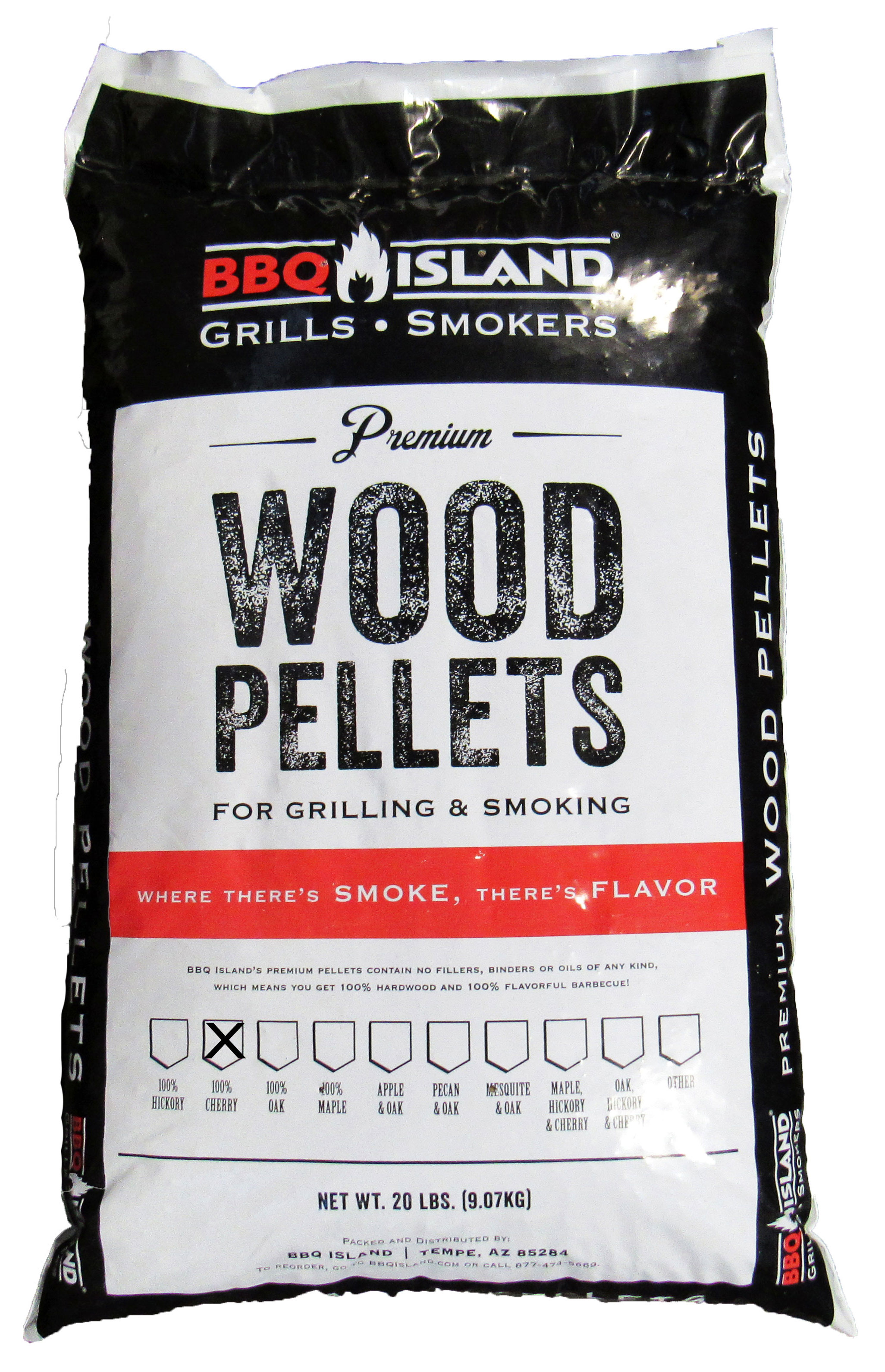 BBQ Island 100% Cherry Wood Pellets - 20 lbs
