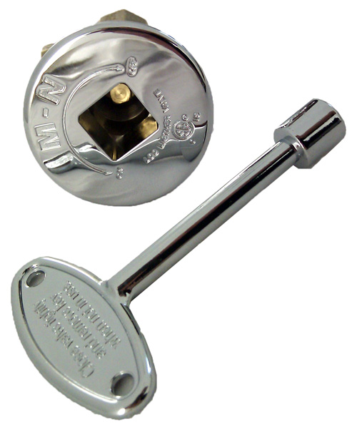 The straight gas key valve is made to regulate and fine tune the flame in all gas fire pits and fireplaces. It also has a removable key for safety. The flange is adjustable and has a chrome finish.