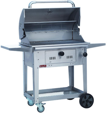 Bull Bison Charcoal Grill on Cart
