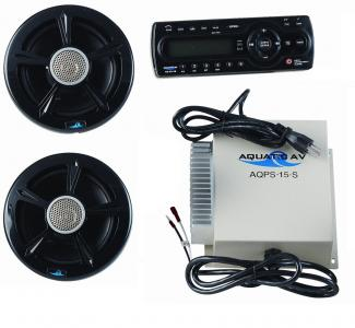 Bull AM/FM CD Player with 2 Speakers