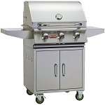 Bull Steer 24 Inch Propane Gas Grill on Cart