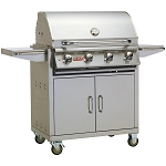 Bull Lonestar Select 30 Inch Propane Gas Grill on Cart