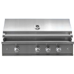 Caliber 41 Inch CrossFlame Silver Natural Gas Grill w/Rotisserie and Lights