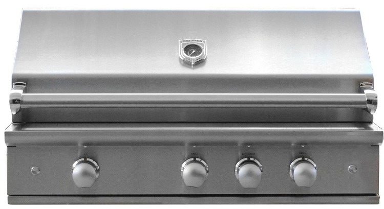 Caliber 42 Inch CrossFlame Pro Propane Gas Grill w/ IR Sear Zone and Rotisserie