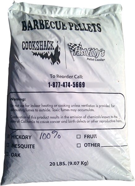 Fast Eddy 100% Hickory BBQ Pellets