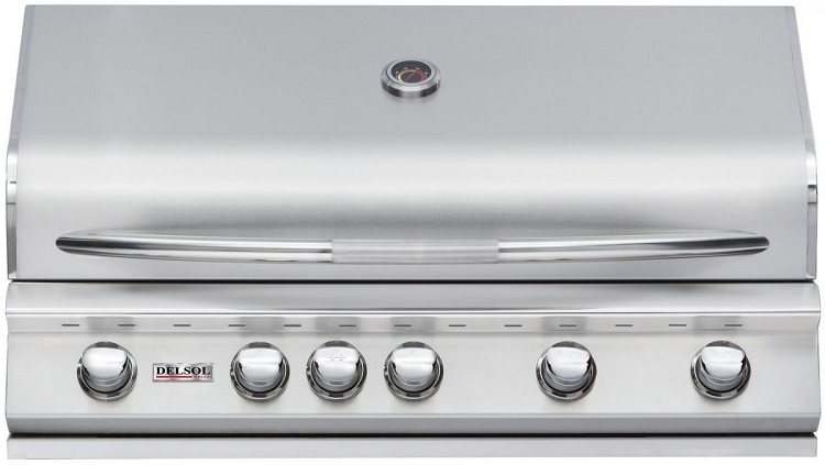 Delsol 40 Inch Propane Gas Grill with Rotisserie Burner