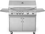 Delsol 40 Inch Natural Gas Grill on Cart with Rotisserie Burner