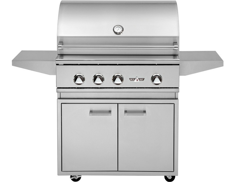 Delta Heat 32 Inch Natural Gas Grill on Cart with Infrared Rotisserie