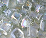 Crystal Ice Cubed Fire Glass - 10 lbs