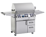Fire Magic Echelon Diamond Series E660s Natural Gas Grill with Flush Mounted Single Side Burner