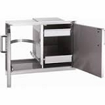 Fire Magic Echelon Double Door Access with Dual Drawers and Pull out Tray
