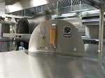 Forno de Pizza Stainless Steel Door with Damper and Thermometer