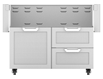 Hestan 42 Inch Door and Drawer Tower Cart