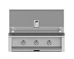 Hestan Aspire 36 Inch Natural Gas Grill, 3 (U) Burner