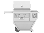 Hestan 30 Inch Propane Deluxe Grill with Double Side Burner, 2 Trellis Burner