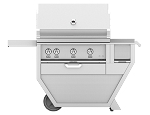 Hestan 36 Inch Natural Gas Deluxe Grill with Worktop, 3 Trellis Burner