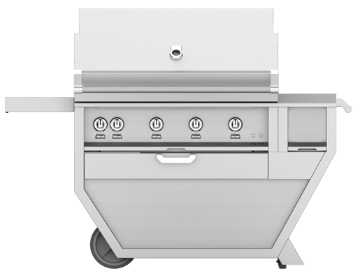 Hestan 42 Inch Natural Gas Deluxe Grill with Worktop, 4 Sear Burner
