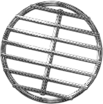 Stainless High Heat Charcoal Fire Grate Upgrade For Small Green Egg Grill