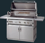 Luxor 42 Inch Propane Grill with All Sear Zone, Rotisserie and Light - On Cart