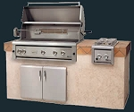 Luxor 42 Inch Natural Gas Grill with Smoker Box