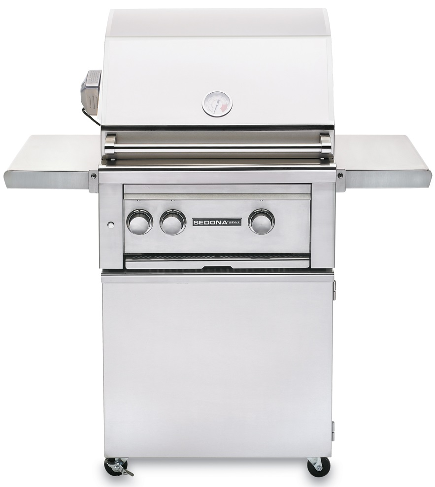 Lynx Sedona 24 Inch Natural Gas Grill w/ ProSear Burner and Rotisserie on Cart