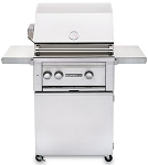 Lynx Sedona 24 Inch Natural Gas Grill w/ Rotisserie - 2 SS Tube Burners on Cart