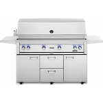 Lynx 54 Inch Professional Propane Gas Grill w/ Trident and Rotisserie on Cart