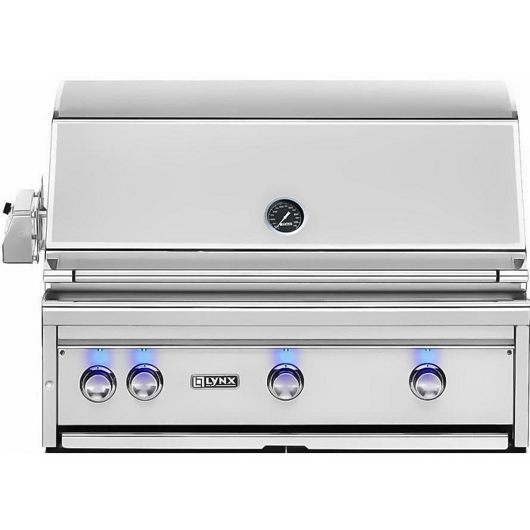 Lynx 36 Inch Professional All Trident Natural Gas Grill w/ Rotisserie
