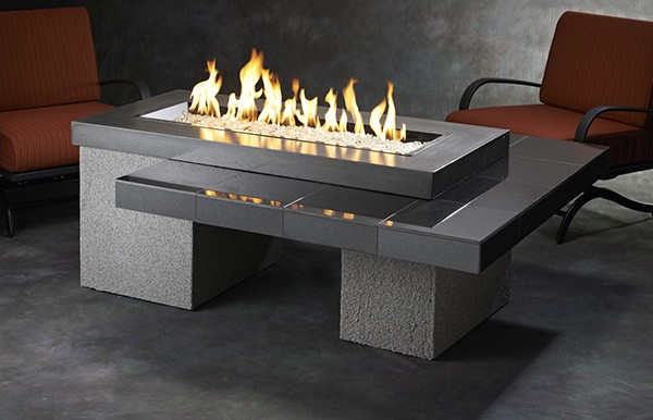 Uptown Fire Table 1242 Black Granite Tile Top