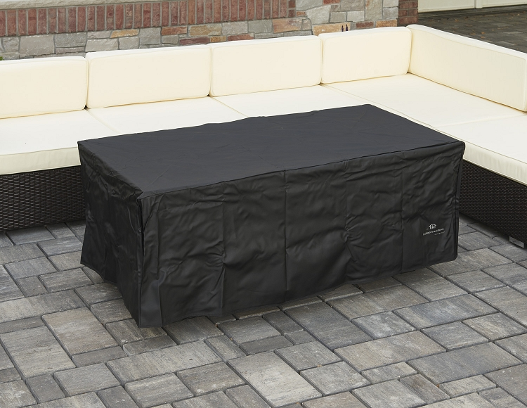 Montego fire pit coffee table black top balsam wicker base for Great outdoor room company