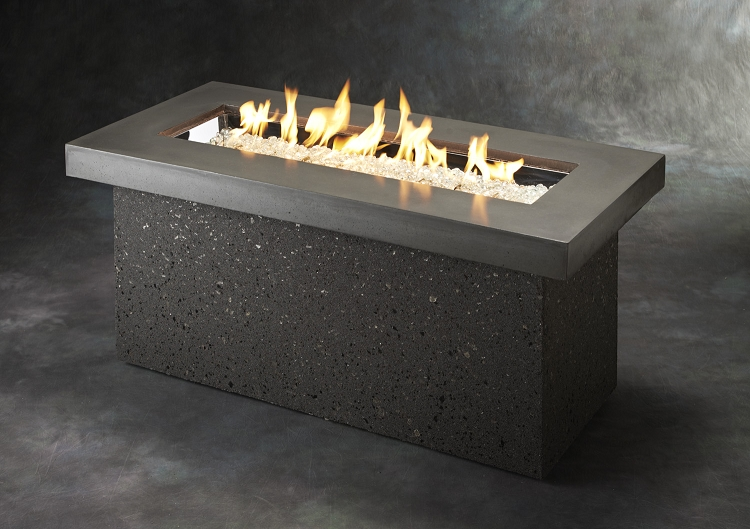 Key Largo Fire Table Midnight Mist Supercast Top