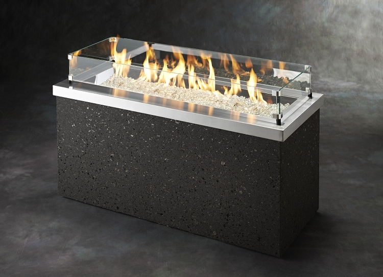 Key Largo Fire Table - Stainless Steel Top