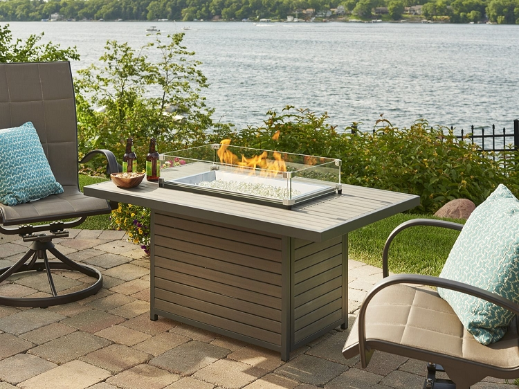 Brooks fire pit table for Great outdoor room company