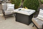 Providence Fire Pit Table - White Onyx Top