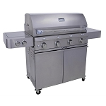 Saber 670 Propane Stainless Grill - On Cart