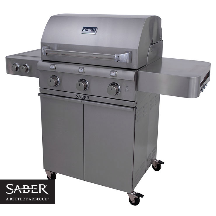 Saber 500 Propane Stainless Grill - On Cart