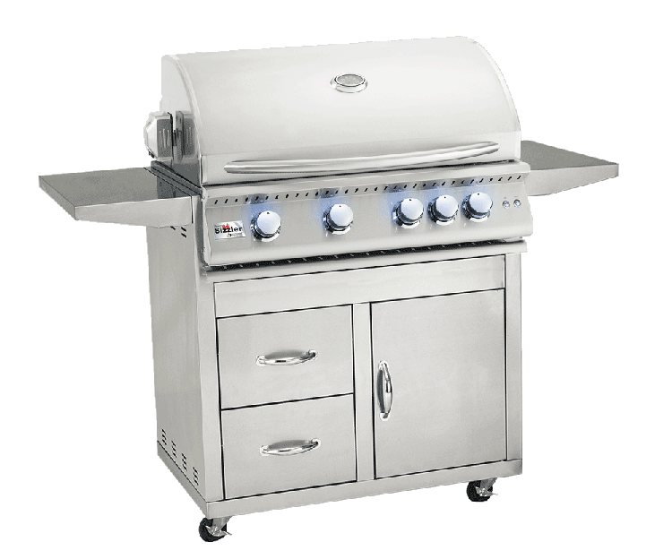 Summerset Sizzler Pro 32 Inch Natural Grill on Cart