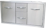 Sunstone 42 Inch Multi-Storage-Warming and Cooking Drawer, Tank Tray Combo