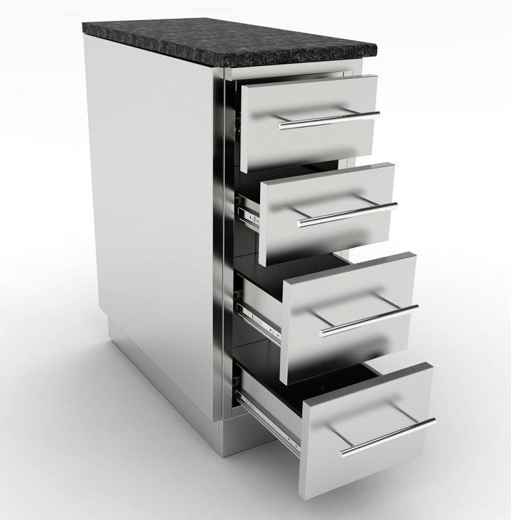 Sunstone 12 Inch 4 Multi Drawer Base Cabinet