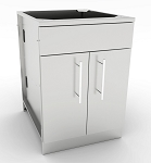 Sunstone 24 Inch Double Door Base Cabinet w/Shelf & False Top Panel