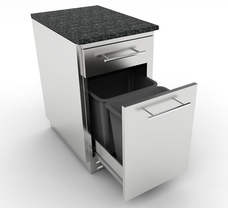 Sunstone 18 Inch Propane Trash Drawer Combo Cabinet W Top