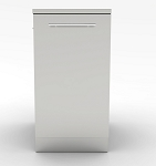 Sunstone 18 Inch Trash Drawer Cabinet w/Two Top Loading Bins